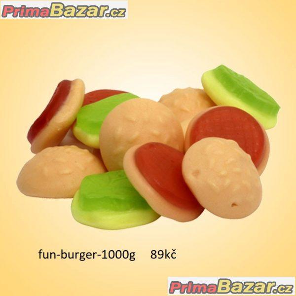 prodam 1000g želé hamburger a 1000g maliny a ostruž