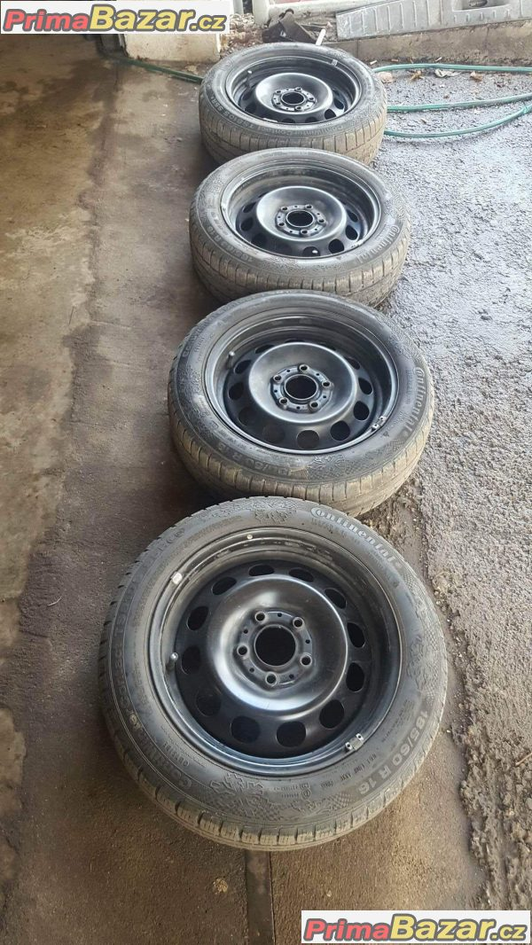 plechy disky bmw s pneu Continental 5x120 6jx16 is7