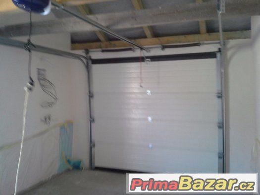 Garážová sekční vrata s pohonem výprodej