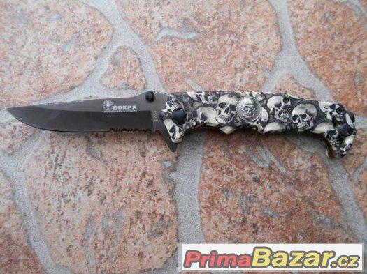 Kvalitní poctivý nůž lebky smrt