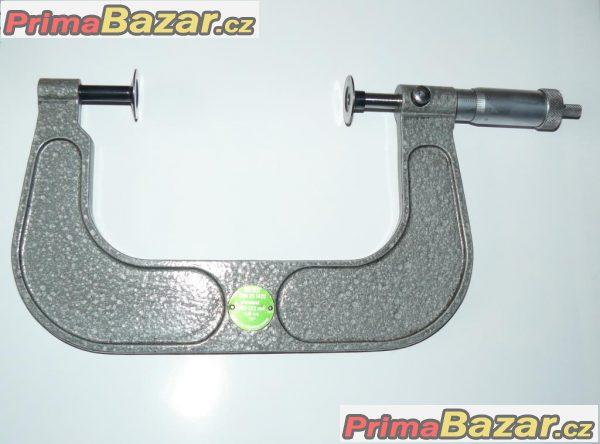 Mikrometr třmenový talířkový 100 -125  analog. na ozub. kola