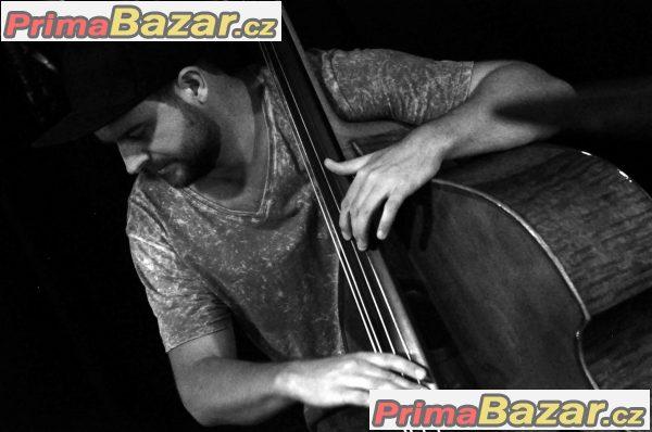 Výuka hry na basovou kytaru a kontrabas v centru Brna