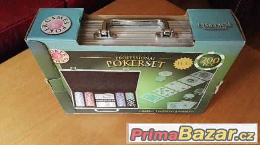 Prodám poker set NOVÝ  Krásný kufřík.