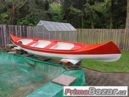 3místná kanoe,na prodej, jako nová, zesílená