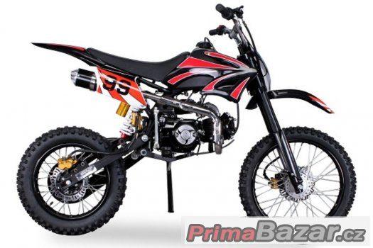 DirtBike 125cc ,Nový, 17/14 - černá, záruka 2 roky