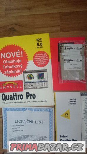 Prodám retro software Quattro Pro, verze 5.0