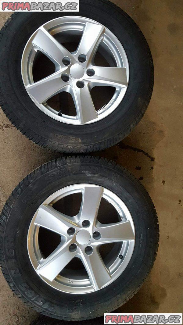 alu kola elektrony nová ,nepoužitá sada i s novou pneu Alutec dl656 5x112 6.5jx16 et33