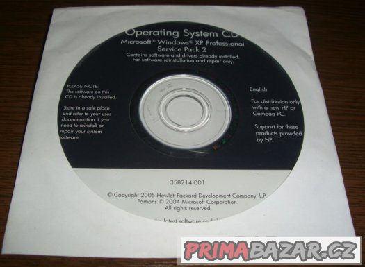 Originál HP Windows XP Professional Eng SP2