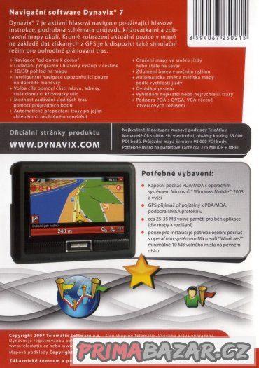 Nerozbalený Dynavix 7 - Podrobná mapa ČR + MRE