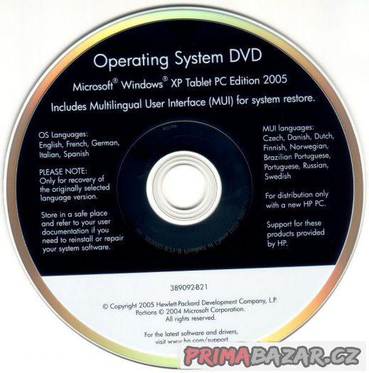 Originál Windows XP Tablet PC Edition MUI DVD OEM HP