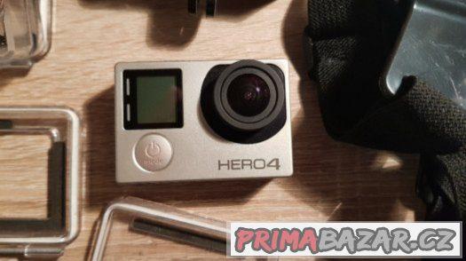 GoPro HERO4 Silver Edition v perfektním stavu + 32 gb karta