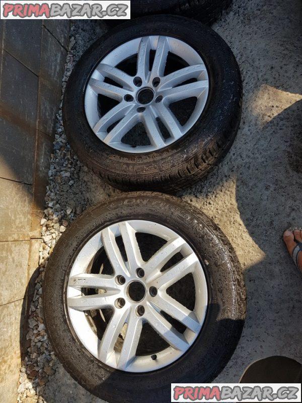 alu kola s pneu Audi 5x130 4L0601025B 8.5jx18 et58