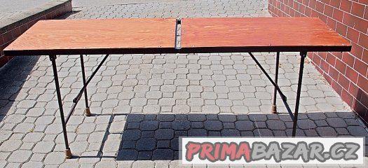 stůl kovový rozkládací