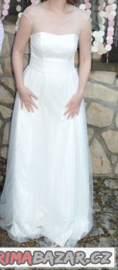 Svatební šaty šité podle mého návrhu, vel. 38-40