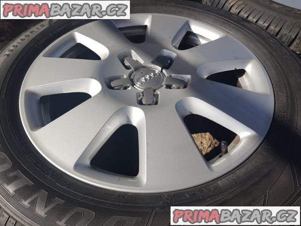 prodam alu kola elektrony Audi VW 4L0 601 025AF 5x130 7.5jx18 et53 pneu dunlop 235/60 r18 107h zet 60-50%
