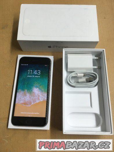 Apple iPhone 6 16GB space grey, pěkný stav, 3 měsíce záruka