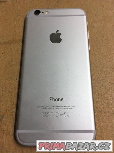 Apple iPhone 6 16GB silver, pěkný stav, 3 měsíce záruka