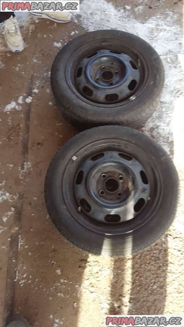 2xplechový disk Volkswagen 4x100 6jx14 et43