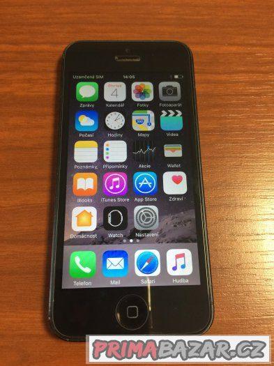 Použitý IPHONE 5 (16GB) black + bohaté přísl.