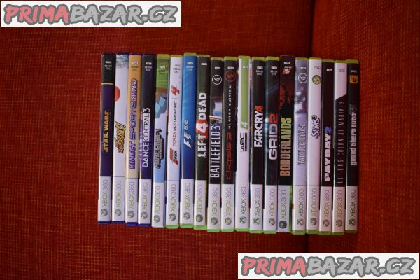 Xbox 360 + Kinect, 320GB, 2x ovladač,19 her