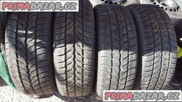 4xplechové disky plechy 4x100 s pneu uniroyal 6jx15 et45