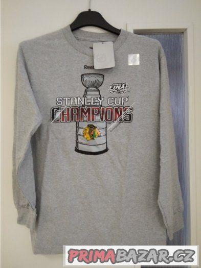 Šedá mikina Reebok, Stanley Cup Champions 2015, velikost S