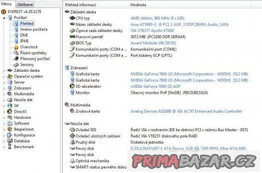 AMD Athlon 900 MHz Thunderbird A0900AMT3B sc.462 FUNKČNÍ