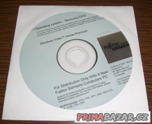 Windows Vista Home Premium Recovery DVD CZ FujitsuSiemens