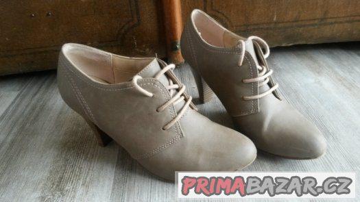 d394c5cf62 Deichmann Graceland béžové boty na podpatku