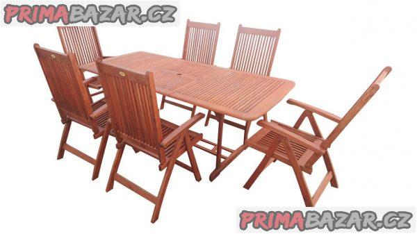 Zahradní nábytek z tvrdého exotického dřeva