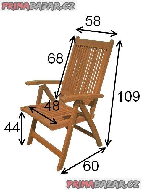 Zahradní eukalyptová polohovací židle