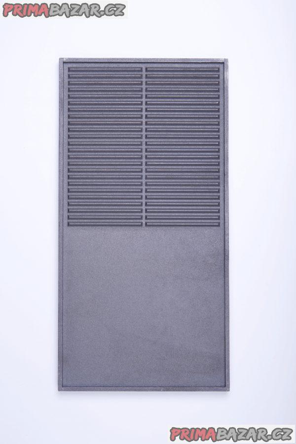 ČESKÝ LITINOVÝ GRIL 585x300 mm - STEAKY, grilování