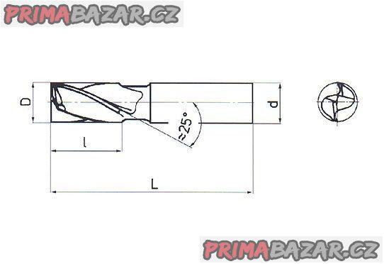 FRÉZA pro drážky per krátká 14x16 mm  (NOVÁ) ČR