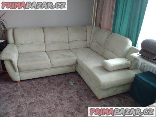 Rohový gauč a křeslo