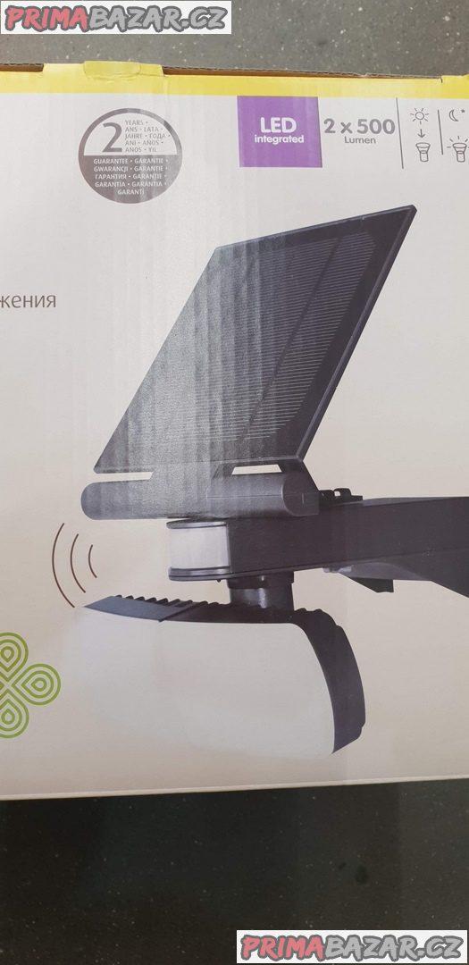 nové solární světlo led s pir senzorem na vaši zahradu nové ,nepoužité osvětlení se solárním panelem a čidlo na pohyb 2x500lm stačí přilepit nebo přiš
