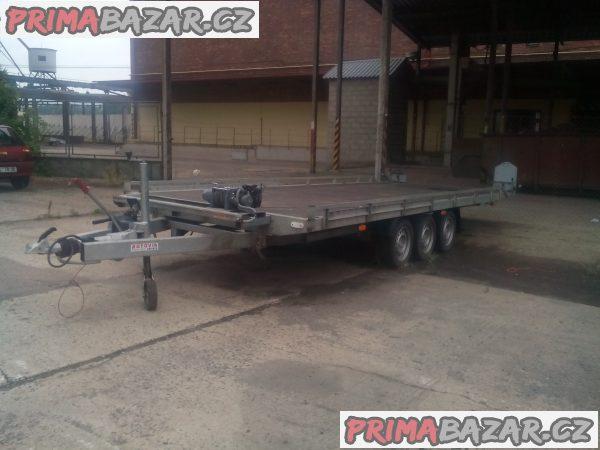 AD 3,5t. B3 tříosý hydraulický sklopný přívěsný vozík NA PRODEJ ČI PRONÁJEM