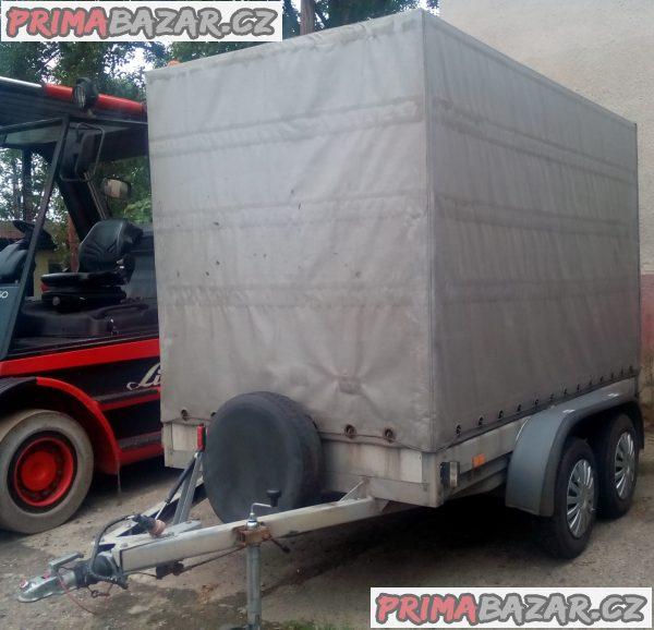 Pronájem či prodej: přívěsný vozík 2t.s plachtou  dvouosý brzděný přívěs s plachtou VZ 33 2t. B2 3,30x1,70/1,80 plachta