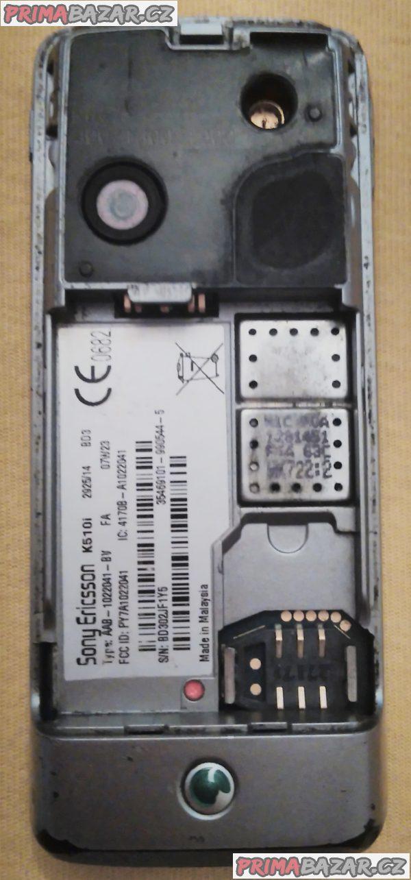 Sony Ericsson K510i - na náhradní díly nebo k opravě!!!