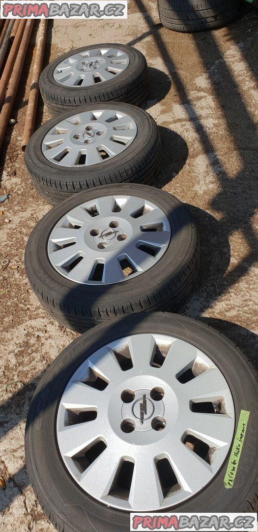 sada alu kola elektrony opel gm s pneu 2x98% vzorek a 2x70% vzorek 4x100 r15 pneu 185/60 r15 88h cena:5490