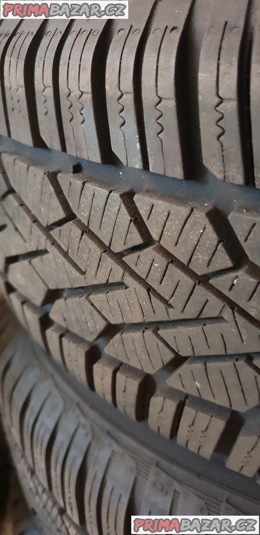 prodám plechové disky mercedes s pneu semperit 90% vzorek dot3515 5x112 6.5jx15 et37