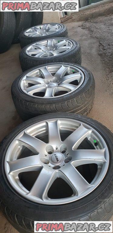 alu kola elekktrony Rial fl807 bmw Volkswagen 5x120 8jx17 et30 pneu kumho 225/45 r17 91h