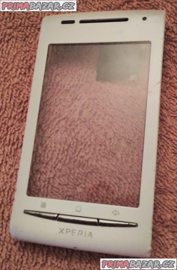 Sony Ericsson Xperia X8 - přední a zadní kryt.