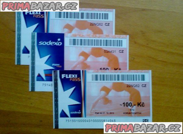 Koupím poukázky Relaxpass , Flexipass, Tickets Benefit