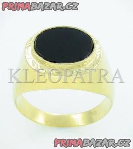 Pánský zlatý prsten