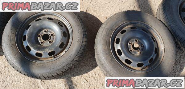 plechove disky octavia 1 s pneu debica 1J0 5x100 6jx15 et38