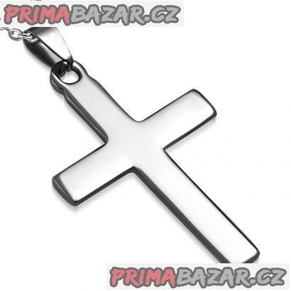 Ocelový přívěsek kříž velký