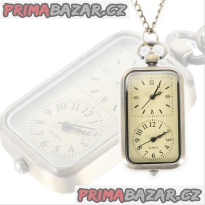 Kapesní hodinky obdélníkové