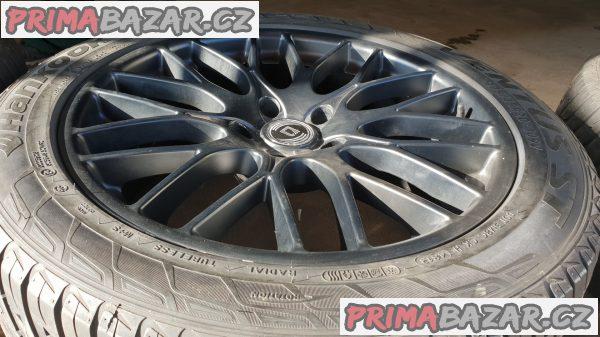 alu kola elektrony germany  diewe wheels černý lak 5x130 9jx20 et45 pneu Hankook ventus 275/45 r20