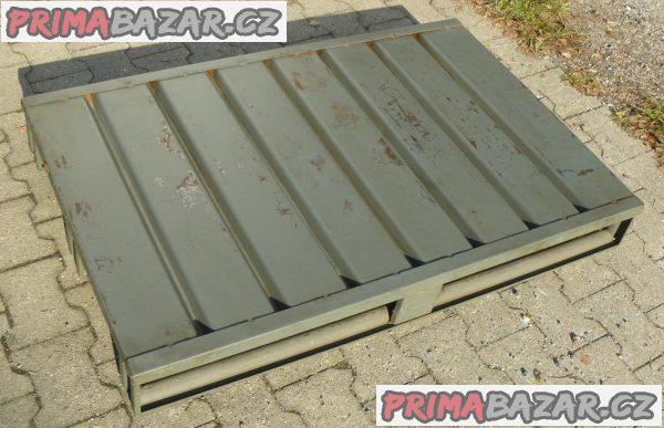 PALETA KOVOVÁ PROSTÁ 1200x800x140 (mm) ČR