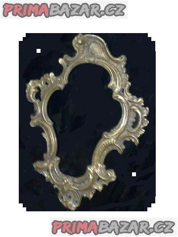 Zrcadlo v barokním bronzovém rámečku